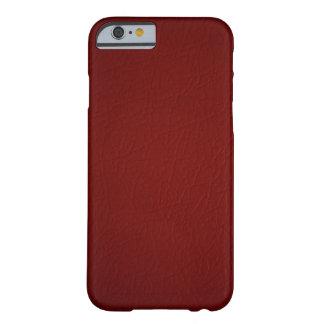 Caja de cuero roja del iPhone 6 de la mirada Funda Para iPhone 6 Barely There
