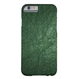 Caja de cuero verde del iPhone 6 de la mirada Funda Para iPhone 6 Barely There