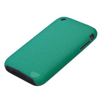 Caja de cuero verde tough iPhone 3 carcasas