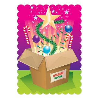 """Caja de decoraciones del navidad invitación 5"""" x 7"""""""