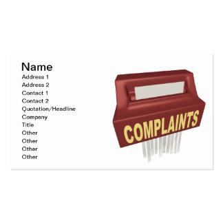 Caja de denuncia plantilla de tarjeta de visita