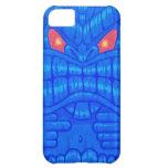 Caja de encargo azul del iPhone 5 de Tiki
