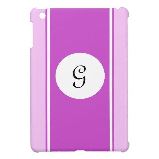 Caja de encargo blanca rosada de Ipad de las rayas