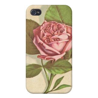 Caja de encargo color de rosa rosada bonita de la iPhone 4 fundas