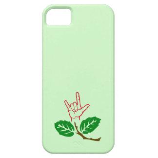 Caja de encargo de la flor del ASL te amo Funda Para iPhone SE/5/5s