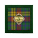 Caja de encargo de la teja de la tela escocesa del caja de regalo
