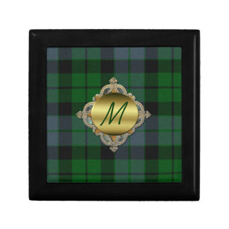 Caja de encargo de la teja de la tela escocesa del caja de joyas