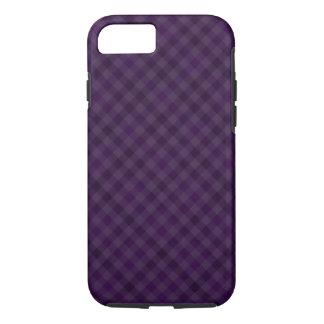 Caja de encargo de la tela escocesa de la púrpura funda iPhone 7