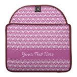 Caja de encargo de MacBook de los corazones rosado Funda Macbook Pro