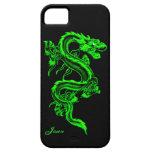Caja de encargo de neón del iPhone 5 del dragón Funda Para iPhone 5 Barely There