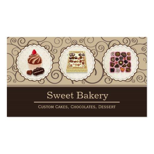 Caja de encargo de tienda de la panadería del tarjetas de visita