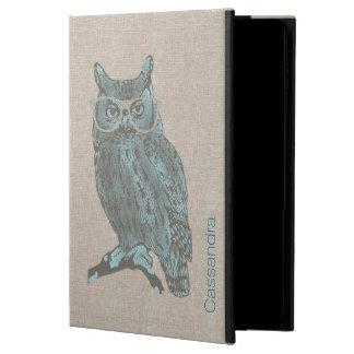 Caja de encargo del aire 2 del iPad del búho azul