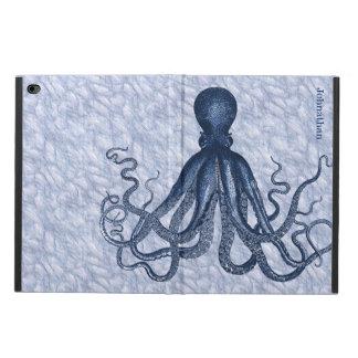 Caja de encargo del aire 2 del iPad del pulpo azul