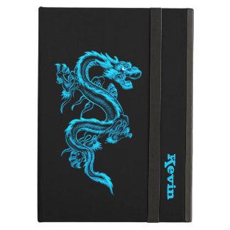 Caja de encargo del aire del iPad del dragón azul