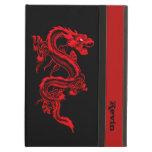 Caja de encargo del aire del iPad del dragón rojo