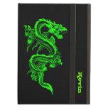 Caja de encargo del aire del iPad del dragón verde