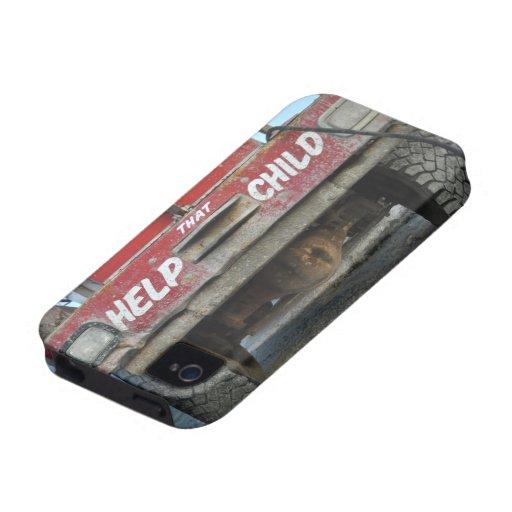 caja de encargo del camión del niño de la ayuda iPhone 4/4S carcasa