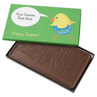Caja de encargo del chocolate del polluelo de caja con tableta de chocolate con leche grande