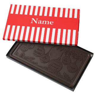 """""""Caja de encargo del chocolate superior del día de Chocolate Negro Personalizado"""