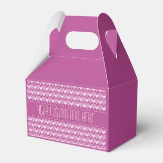 Caja de encargo del favor de los corazones rosados caja para regalos