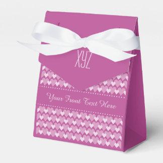 Caja de encargo del favor de los corazones rosados cajas para regalos de boda