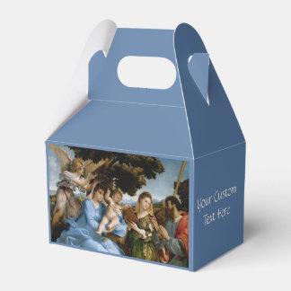 Caja de encargo del favor del arte religioso caja para regalos