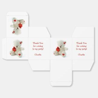 Caja de encargo del favor del peluche del amor caja para regalo de boda