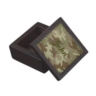 Caja de encargo del recuerdo del camuflaje cajas de regalo de calidad