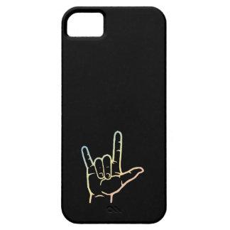 Caja de encargo en colores pastel del ASL te amo Funda Para iPhone SE/5/5s