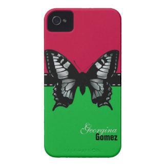 Caja de encargo personalizada de la mariposa Case-Mate iPhone 4 cobertura