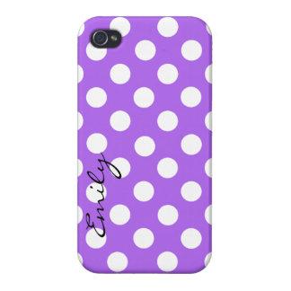 Caja de encargo púrpura y blanca del iPhone 4 del iPhone 4 Protectores