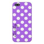 Caja de encargo púrpura y blanca del iPhone 5 del  iPhone 5 Cárcasa