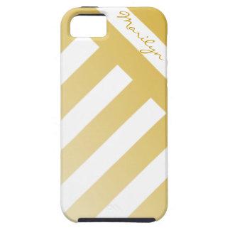 Caja de encargo rayada oro del iPhone 5 iPhone 5 Carcasa
