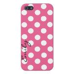 Caja de encargo rosada y blanca del iPhone 5 del l iPhone 5 Cárcasas