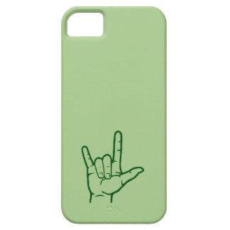 Caja de encargo verde del ASL te amo Funda Para iPhone SE/5/5s