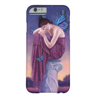 Caja de hadas azul del iPhone 6 de la mariposa de Funda De iPhone 6 Barely There