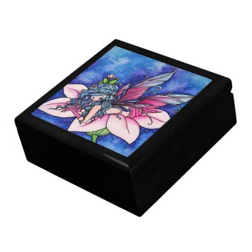 Caja de hadas de la baratija del arte de la fantas joyero cuadrado grande