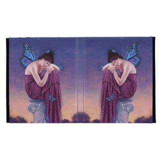 Caja de hadas del folio del iPad de la mariposa de