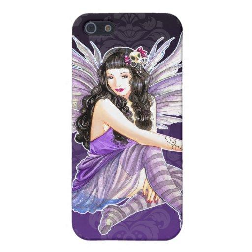 Caja de hadas gótica púrpura del iPhone 4/4S del d iPhone 5 Funda