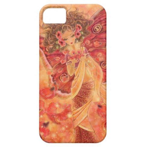 Caja de hadas india roja del iPhone 5 de la polill iPhone 5 Case-Mate Fundas