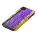 Caja de hadas púrpura del iphone de la puerta iPhone 4 Case-Mate fundas
