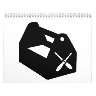 Caja de herramientas calendarios de pared