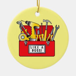 Caja de herramientas: ¡Como Boss! Adorno Navideño Redondo De Cerámica