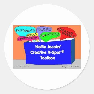 Caja de herramientas creativa de X-Spot® Etiqueta Redonda