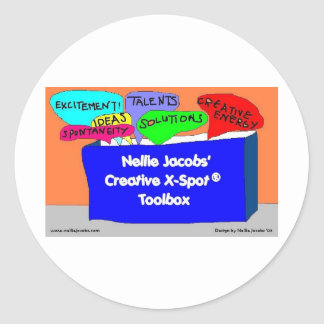 Caja de herramientas creativa de X-Spot® Pegatina Redonda
