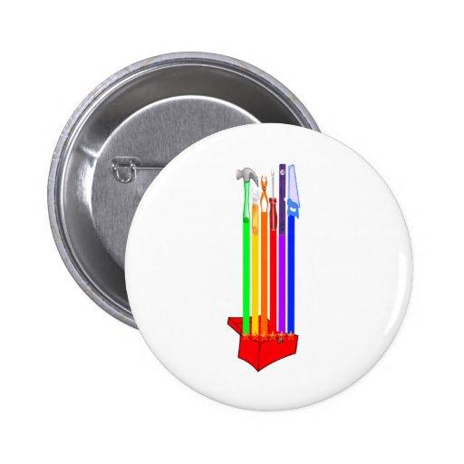 Caja de herramientas de Rainbo Pins