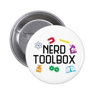 Caja de herramientas del empollón pin redondo de 2 pulgadas
