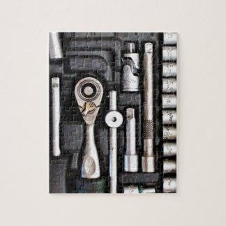 Caja de herramientas del trabajo - impresión puzzle