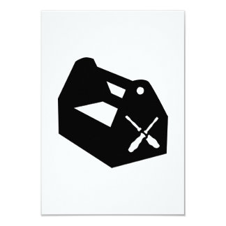 """Caja de herramientas invitación 3.5"""" x 5"""""""