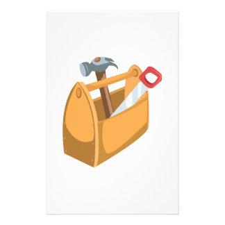Caja de herramientas papelería de diseño